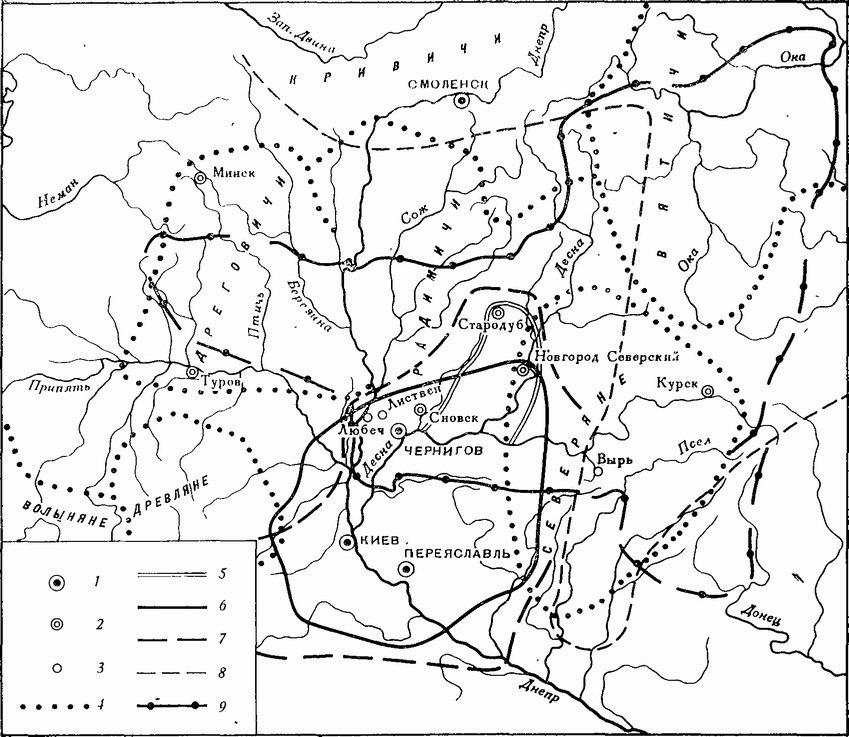 границы Черниговской земли