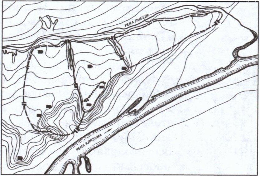 Владимир. Схема плана XII—XIII